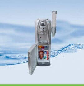מתקן מים לעסק עם מקרר